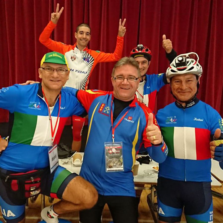Glyn and the Italian team